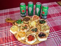 Promo - Docena de empanadas abiertas + 4 cervezas heineken 473 ml