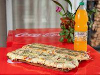 Promo - Pizza muzzarella (1 metro) + Salus Frute 1.6 L