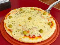 Pizza con mozzarella doble (8 porciones)