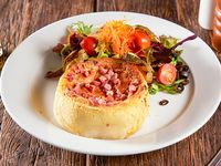 50% OFF Quiche loraine + mini ensalada