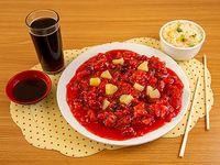 Promo 14 - Costillar cantones con arroz chaufan + bebida 350 cc