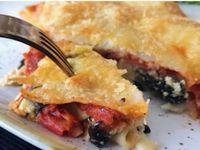 Lasaña Espinaca, Ricotta y Tomate