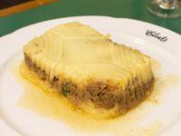 Pastel casero de papas y carne
