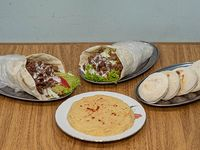 Promo 4  - 2 Shawarma +  humus o berenjena y pan mini