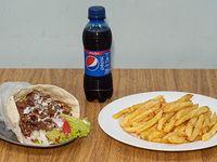 Promo 2 - Shawarma  + papas +  gaseosa de 250 ml