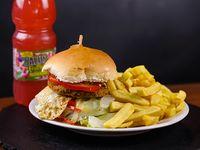 Hamburguesa vegetariana + saborizada 500 ml individual
