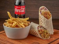 Combo XL Vegetariano de Falafel (500 g)+ Papas fritas + gaseosa 500 ml
