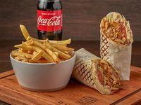 Combo XXL Durum de  pollo (600 g) + Papas fritas + gaseosa 500 ml