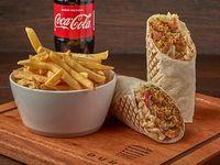 Combo XXL Durum vegetariano de falafel (600 g) + Papas fritas + gaseosa 500 ml