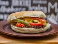 Sándwich champiburger kaya