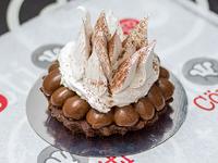 Brownie con dulce de leche y merengue italiano