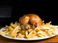 Promo 3 - 1/4 pollo trutro + papas fritas + bebida en lata 350 ml