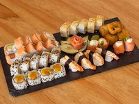 Combo Dimona (salmón ahumado y langostinos) - 40 piezas