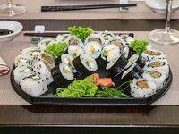 Promo 5 - 10 Maki vegetariano, 10 vege 3P y 10 roll vegetariano.