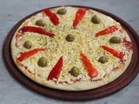 Pizza tres quesos y miel