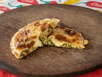 Tarta de pollo y verduras (porción)