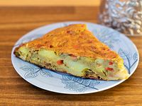 Tortilla de papa vegana (porción)