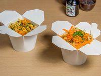 Wok pro - 1 base + 1 proteína + 3 verduras + salsa del mundo