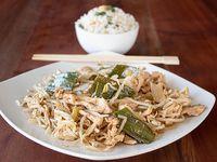Colación - Chapsui de pollo + arroz chaufán o papas fritas