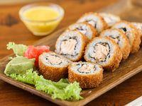 Hot roll phila rebozado en panko (10 piezas)