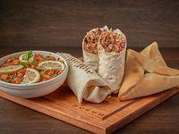 Promo 10 - 2 shawarmas XL a elección (500 gr. c/u) + 2 Fatay  + ensalada Tabule