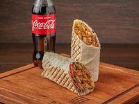 Promo 1 - Promo 1 - Shawarma XL de pollo o falafel (500 g) + gaseosa 500 ml