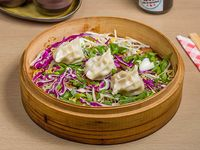 Gyosas de carne con cebollín y verduras (6 unidades)