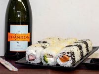 1 clasico + 1 buenos aires + 1 kanikama + chandon delice 750ml