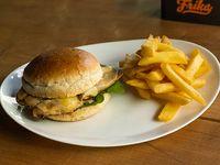 Chicken sándwich de pollo y rúcula