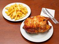 Promo - Pollo asado (entero) + papas fritas