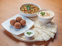 Promo 9 - Falafel (4 unidades) + Hummus (250 ml) + ensalada Tabule