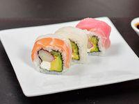 Rainbow roll (8 piezas)