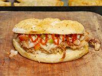 1/4 pollo con salsa mágica, barbacoa y chimichurri