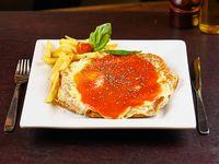 Milanesa napolitana + papas fritas