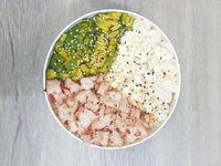 Steam prawn salad