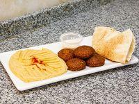 Combo 2 - Falafel al plato + hummus + pan