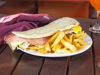 Lomo grande con papas fritas  para compartir (30 cm)