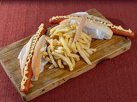Promo 7 - 2 panchos + fritas + salsas