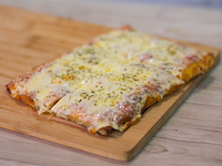 Pizza con muzzarella