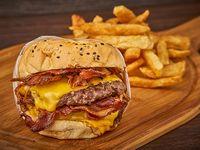 Combo - Hamburguesa Doble cheese BBQ + papas fritas
