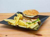 Chicken & meat burger