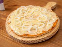 Pizza con muzzarella con un gusto