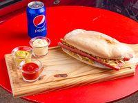 Combo para vos-02 - Pancho Doble + lata de Pepsi 354ml