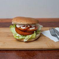 Sándwich de croqueta de pollo campesino