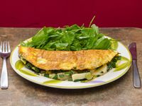 8 - Omelette de verdeo, palmitos y queso