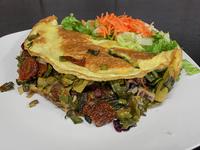 9 - Omelette de espárragos, verdeo y tomates secos