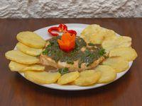 ¼ pollo al verdeo con papas a la española