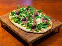 Pizza con rúcula y parmesano (6 porciones)