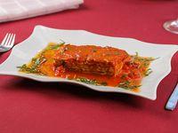 Parmigiana di melanzane (lasagna de berenjenas)