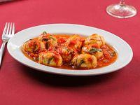 Ndunderi di Minori - Ñoquis de ricotta y parmesano con salsa chef